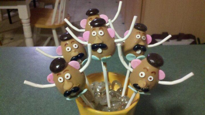 Mr. Potato Head Cake Pops